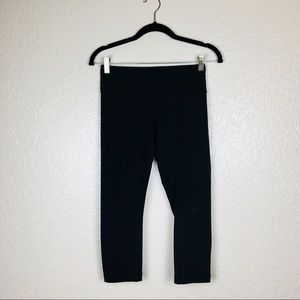 Lululemon Black High Waisted Capri Legging